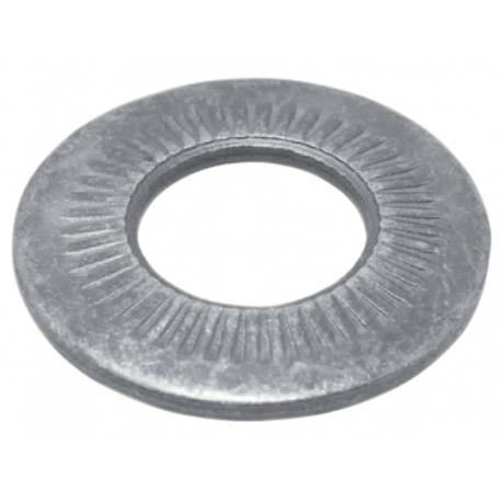Rondelle contact série M acier zingue blanc