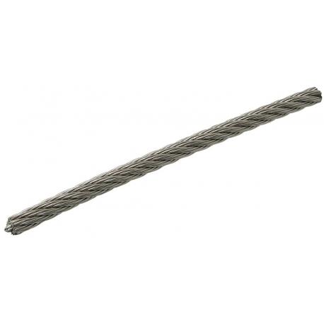 Câble souple section 7 x 7 inox A4