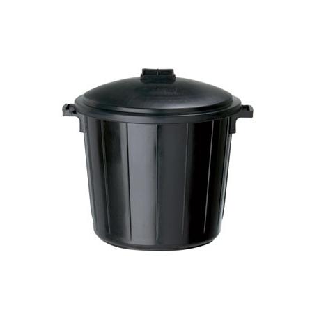 poubelle en plastique de 80 litres avec son couvercle. Black Bedroom Furniture Sets. Home Design Ideas
