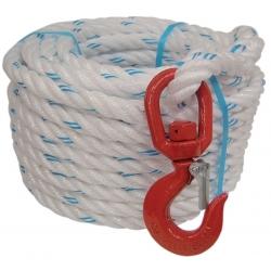 Corde à poulie avec crochet