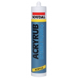 Mastic acrylique acryrub extérieur facade SOUDAL