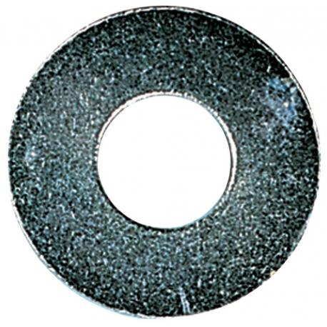 Rondelle grandeur largeur acier zingue blanc