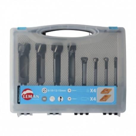 Coffret 8 mèches acier à façonner et à bouchonner LEMAN 21050008