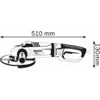 Meuleuse 230mm GWS 24-230 LVI BOSCH 0601893H02