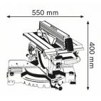 Scie à table et à onglets GTM 12 JL BOSCH 0601B15001