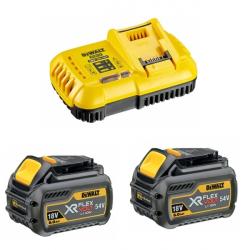 Pack chargeur + 2 batteries 54 V XR FLEXVOLT DEWALT DCB1118T2