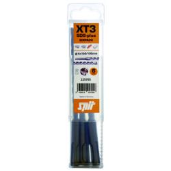 Coffret de 6 forets SDS PLUS béton XT3 SPIT