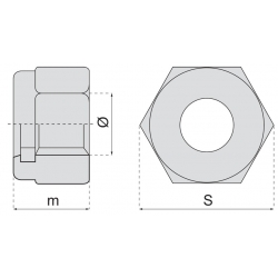 Ecrou frein inox A2