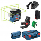Laser GLL3-80CG 12V plan vert connecté 3 axes + support BM1 BOSCH