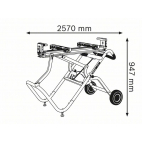 Piétement  GTA 2500 W pour scie à onglet / table BOSCH 0601B12100
