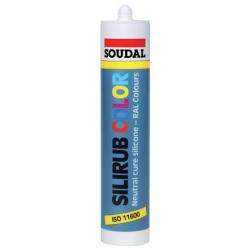 Mastic silicone silirub color SOUDAL