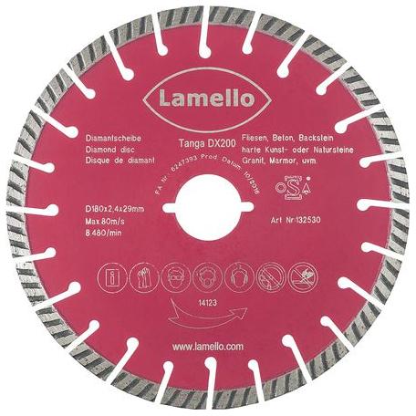 Lame diamant Tanga DX200 LAMELLO