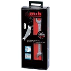 Jeu de 8 clés à fourche MOB 9005000201