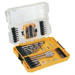 Coffret Toughcase bois et métal 55 pièces DEWALT DT70757-QZ