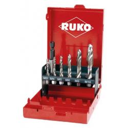 Coffret de 6 forets taraudeurs queue 6 pans RUKO 270020