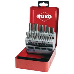 Coffret tarauds main HSS 21 pièces RUKO 245001