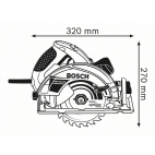 Scie circulaire GKS 65 GCE BOSCH 0601668901