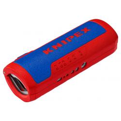 Coupe tube pour gaine électrique et outil à dénuder KNIPEX 90 22 02 SB