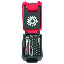 """Coffret fusion box 1/4"""" cliquet manche rotatif MOB 9416046101"""
