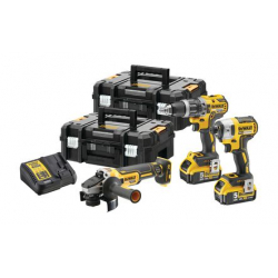 Lot 3 outils XR 18 V 5 ah DEWALT DCK384P2T-QW