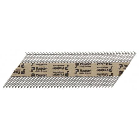 Pointe crantée inox A2 IM90i/CI bande papier 34° + gaz SPIT
