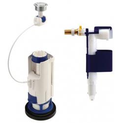 Ensemble mécanisme chasse d'eau et robinet flotteur NICOLL 3V102