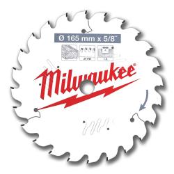 Lame de scie circulaire bois Ø165 mm MILWAUKEE 4932471311