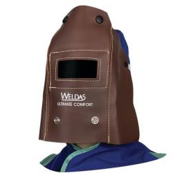 Cagoule portefeuille soudure en cuir marron pliable WELDAS