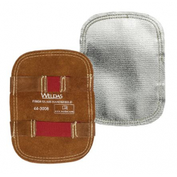 Bouclier de main aluminisé sur support cuir Protection de main aluminisé sur support cuir - WELDAS
