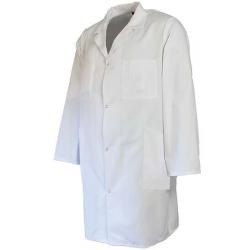 Blouse 100% coton à pressions Blanc
