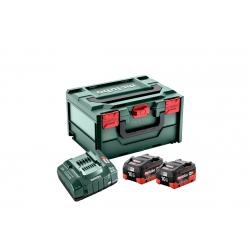 Pack 2 batteries + chargeur LiHD 18 V 2x 10 Ah METABO 685142000