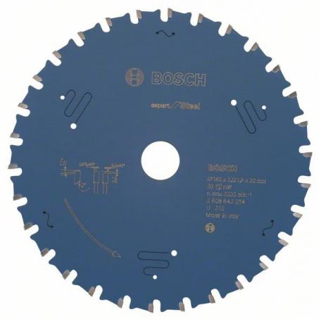 Lame scie carbure Ø 160 mm pour acier BOSCH 2608643054