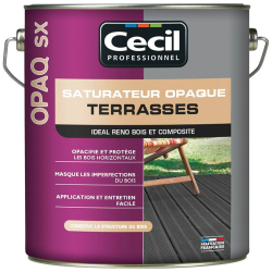 Saturateur terrasse 5 L couleur teck OPAQ SX CECIL 112147