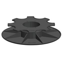 Plot réglable 35~50 mm pour lambourde + plaque x50 SOLIDOR