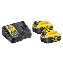 Pack énergie 18 V (2 batteries 5,0 et 1 chargeur DEWALT DCB115P2-QW