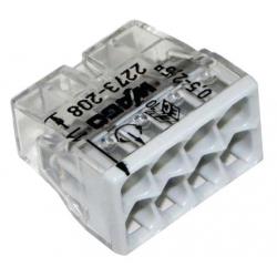 Borne 2273X50-conducteur rigide-8 conducteurs-gris-WAGO