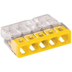 Borne 2273X100-conducteur rigide-5 conducteurs-jaune-WAGO