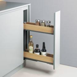 CLEM -Coulissant snello fioro pour meuble de 150 mm PEKA