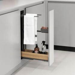 CLEM -Coulissant porte-torchons fioro pour meuble de 150 mm PEKA