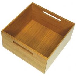 CLEM - Boîte carrée bois avec poignées pour bloc- tiroir KESSEBOHMER
