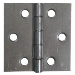 Charnière double feuille acier décapé carrée