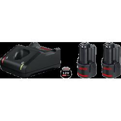 Pack 2 batteries GBA 12V 3Ah + GAL 12V-40 BOSCH 1600A019RD