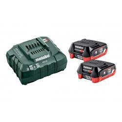 Pack 2 batteries 18 V 4 Ah LiHD + chargeur ASC 55 METABO 685301000