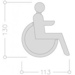 Ideogramme adhésif Handicapé NORMBAU ALLEGION