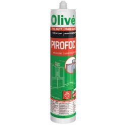 Mastic silicone neutre ignifuge PIROFOC OLIVÉ