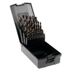 Coffret de 25 forets métaux HSS taillés meulés TECHPRO