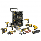 Lot 8 outils XR 18 V 5 Ah DEWALT DCK853P4-QW