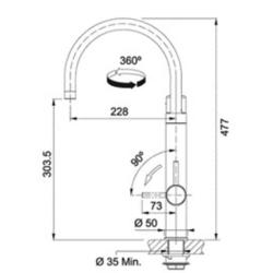 Mitigeur d'évier VITAL avec filtration