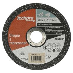 Disque à tronçonner acier / inox 125 mm plat TECHPRO