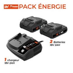 Pack 2 batteries et chargeur 18V - 2 Ah SPIT 054547